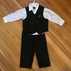 Other - Boys 3T 3-piece pin stripe vest suit